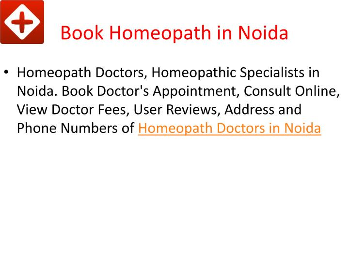 Book homeopath in noida