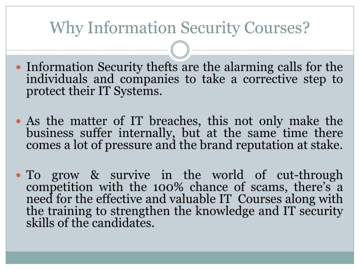Why information security courses