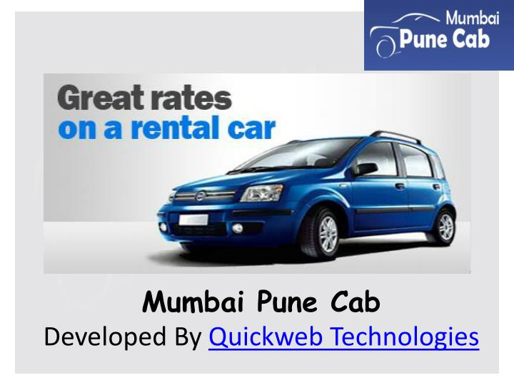 Mumbai pune cab developed by quickweb technologies