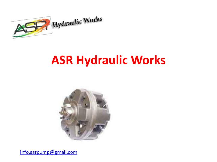 ASR Hydraulic Works