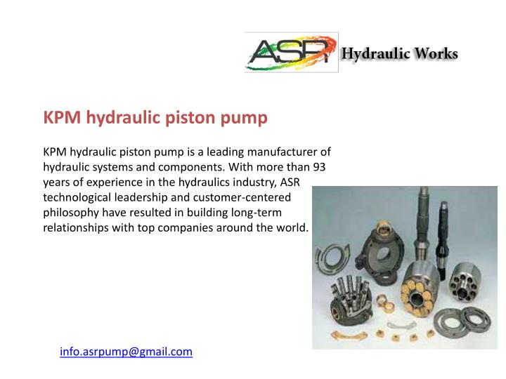 KPM hydraulic piston pump