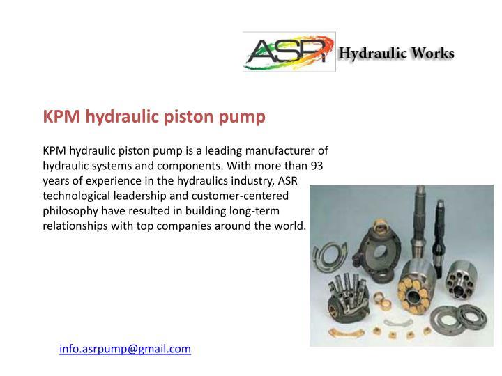 KPM hydraulic piston pump