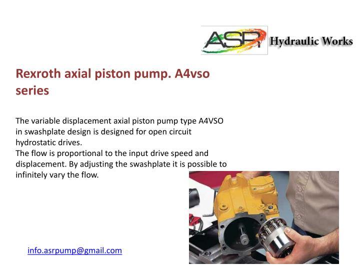 Rexroth axial piston pump. A4vso