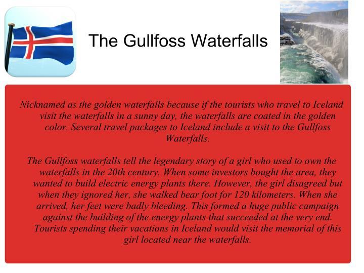 The Gullfoss Waterfalls