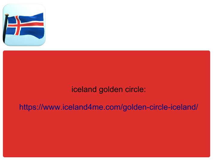 iceland golden circle: