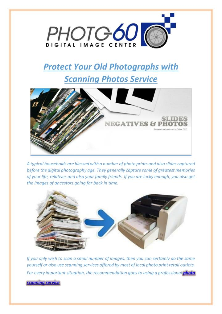 Protect Your Old Photographs with