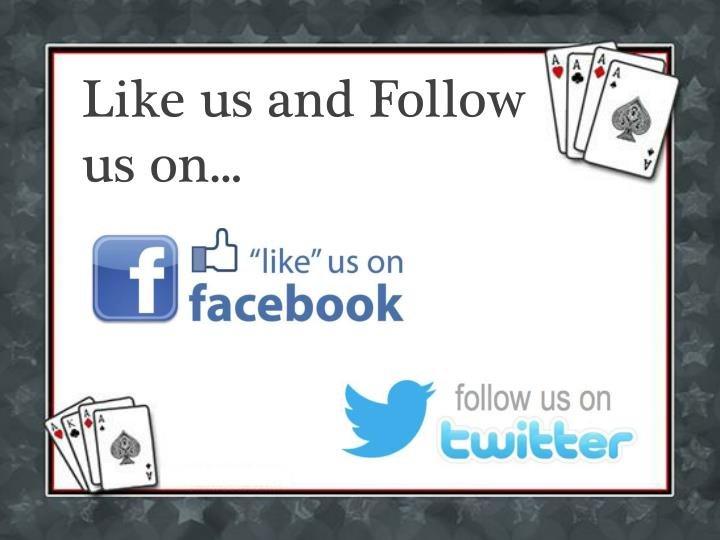 Like us and Follow us on...