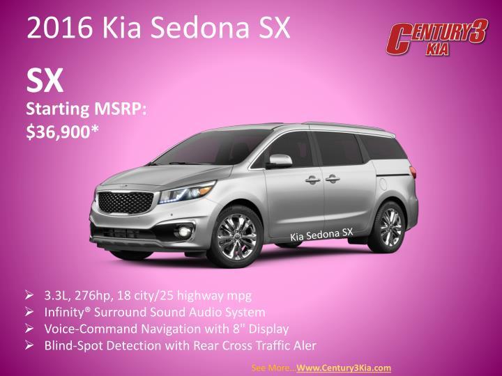 2016 Kia Sedona SX