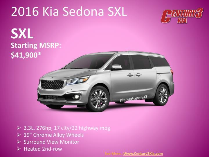 2016 Kia Sedona SXL