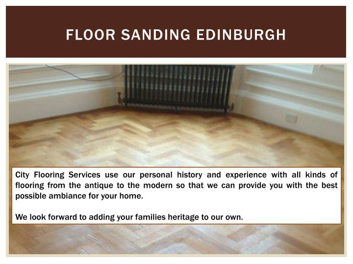 Floor Sanding Edinburgh
