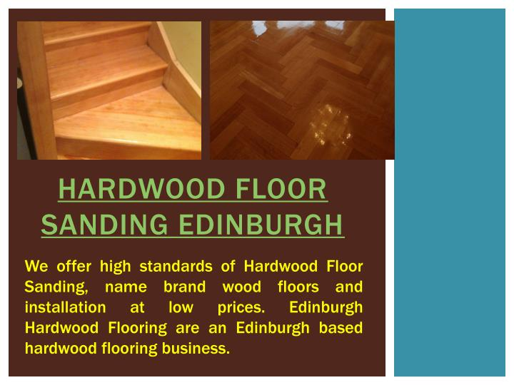 Hardwood floor sanding edinburgh