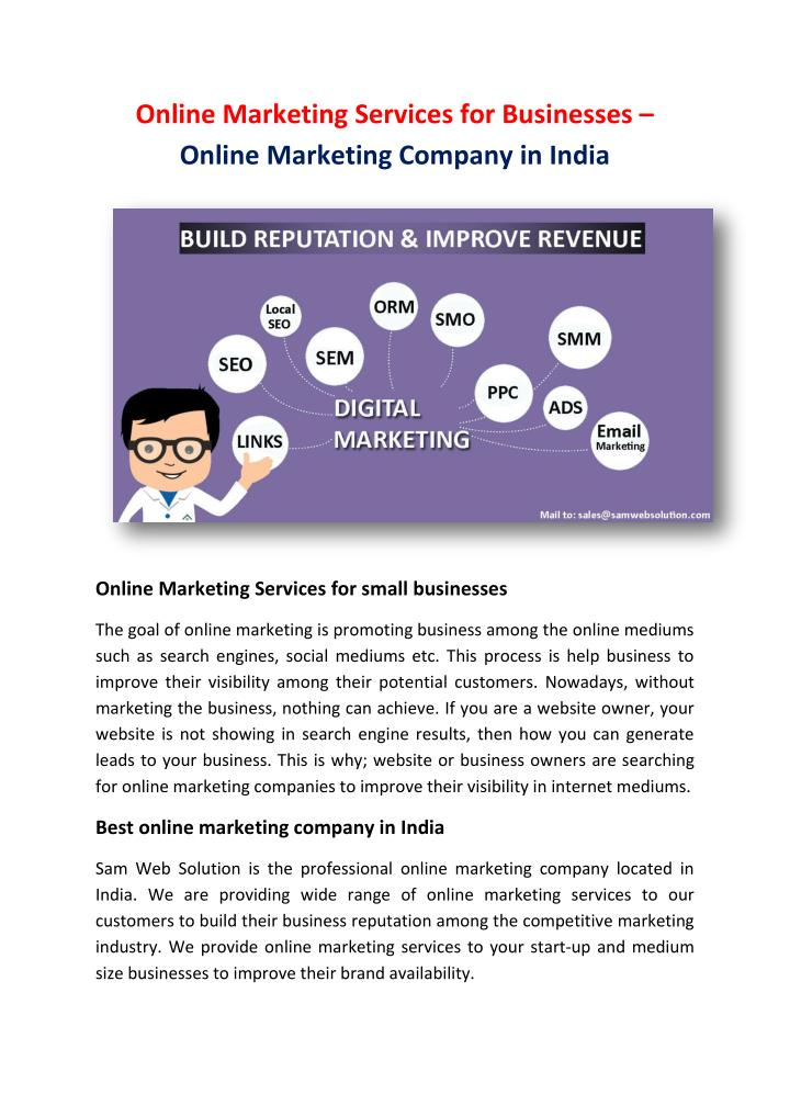 Online Marketing Services for Businesses