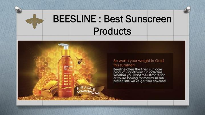 BEESLINE : Best Sunscreen Products