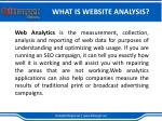 what is website analysis