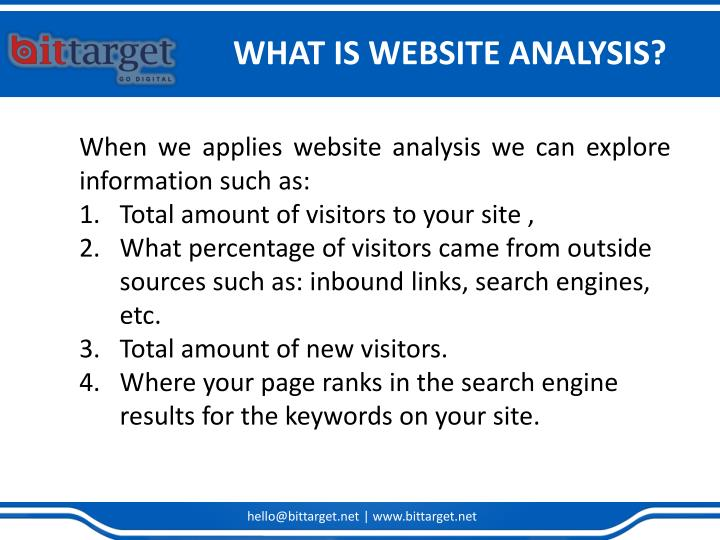 WHAT IS WEBSITE ANALYSIS?