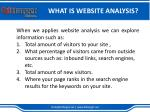 what is website analysis1