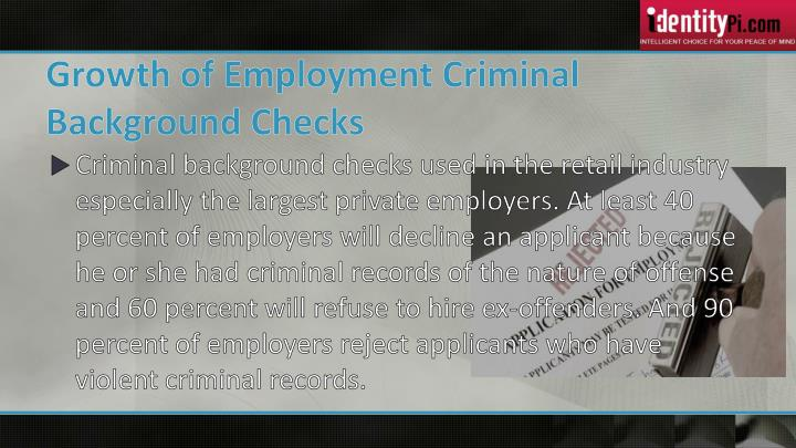 Growth of Employment Criminal Background Checks