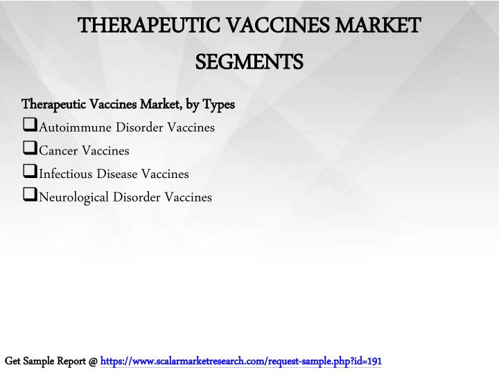 Therapeutic vaccines market segments