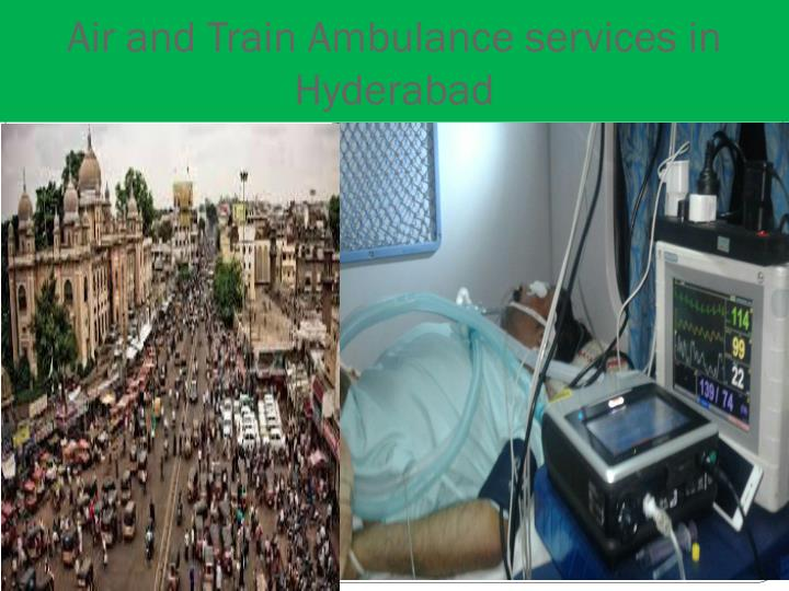 Air and Train Ambulance services in