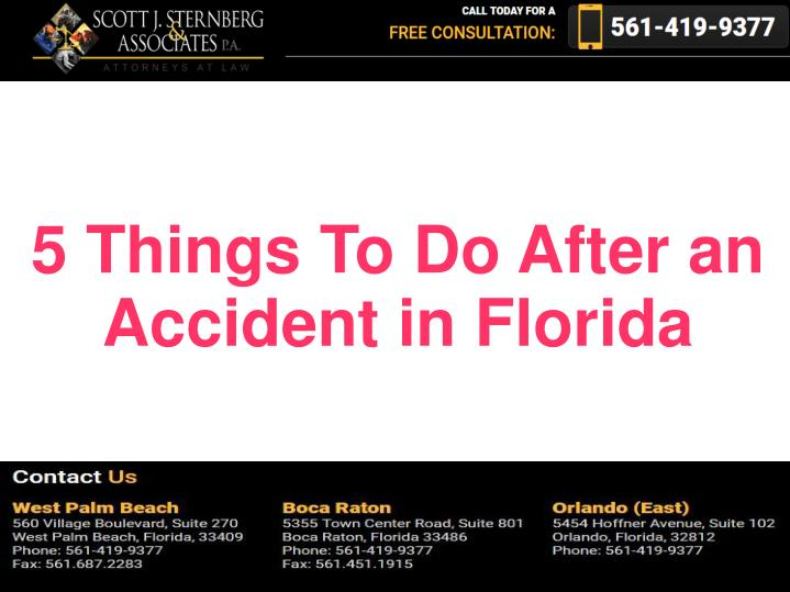 5 Things To Do After an Accident in Florida