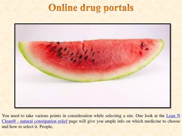 Online drug portals