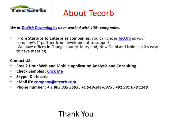 About Tecorb