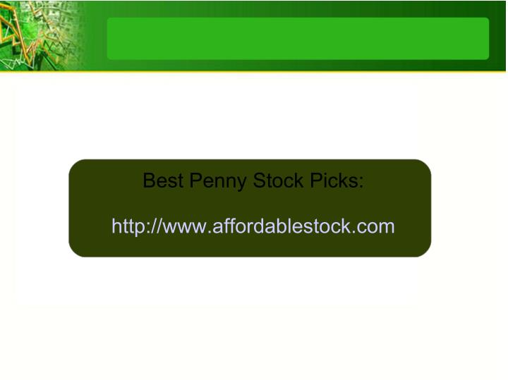 Best Penny Stock Picks: