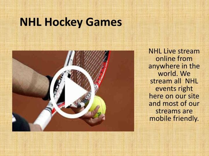 NHL Hockey Games