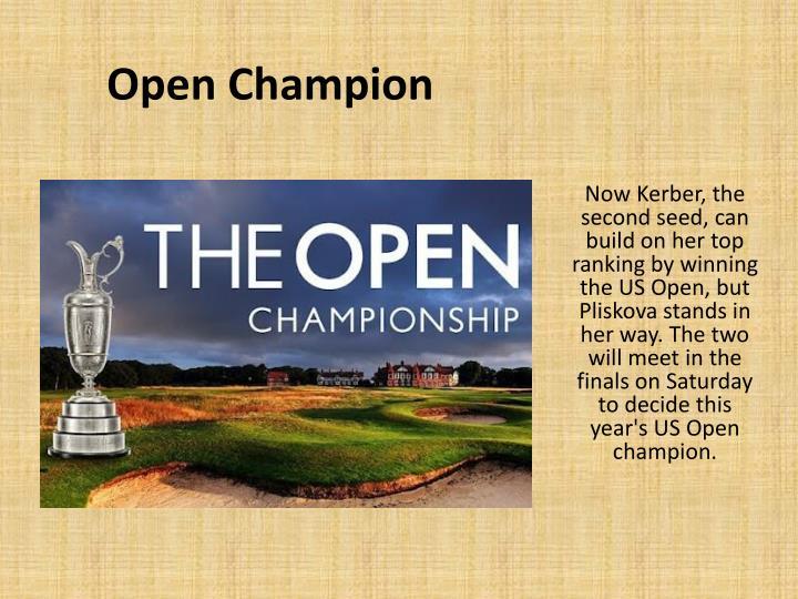 Open Champion