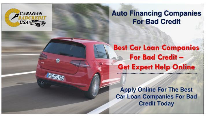 Auto Financing Companies