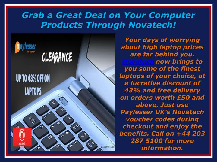 Grab a Great Deal on Your Computer Products Through Novatech!
