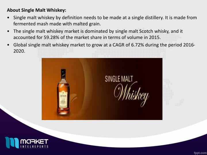 About Single Malt Whiskey: