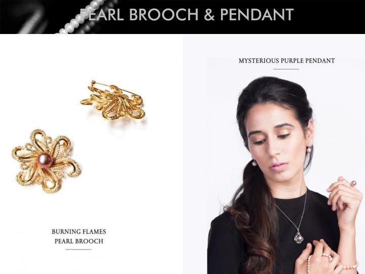 PEARL BROOCH & PENDANT