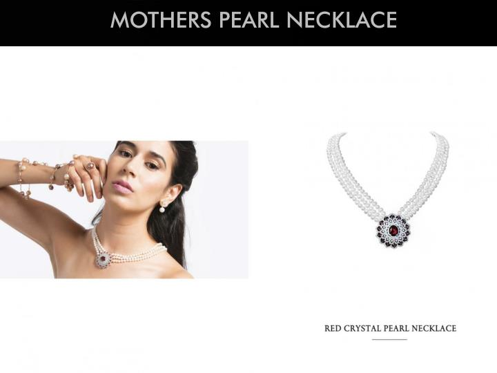MOTHERS PEARL NECKLACE