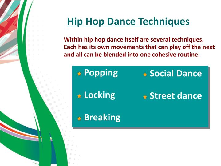 Hip Hop Dance Techniques