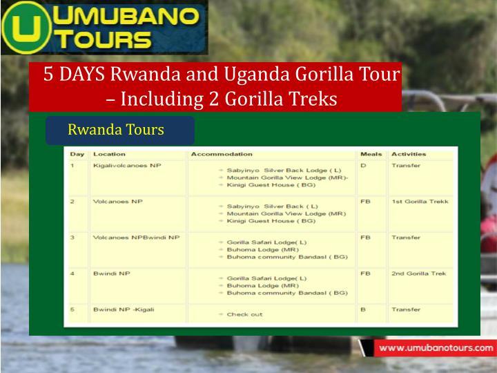 5 DAYS Rwanda and Uganda Gorilla Tour
