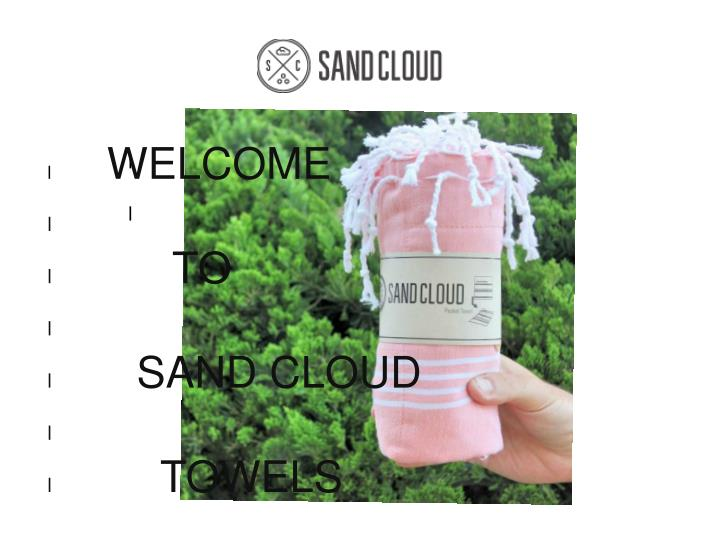 Beach towels from sand cloud