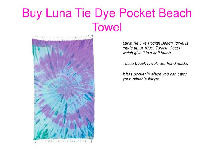 Buy Luna Tie Dye Pocket Beach Towel