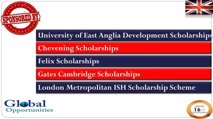 University of East Anglia Development Scholarships
