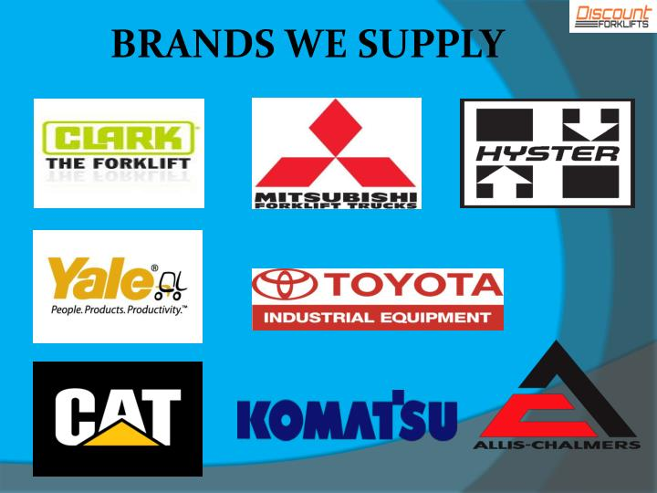 BRANDS WE SUPPLY