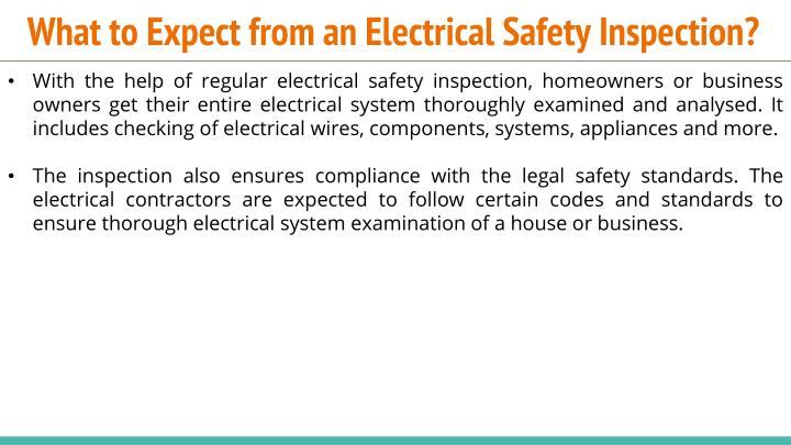 What to Expect from an Electrical Safety Inspection?