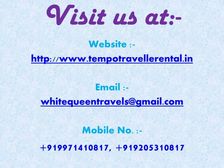 Visit us at:-