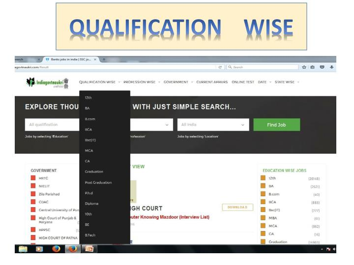 QUALIFICATION    WISE