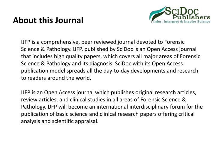 About this journal