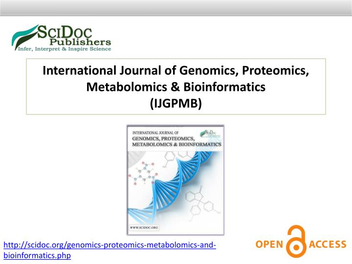 International Journal of Genomics, Proteomics,