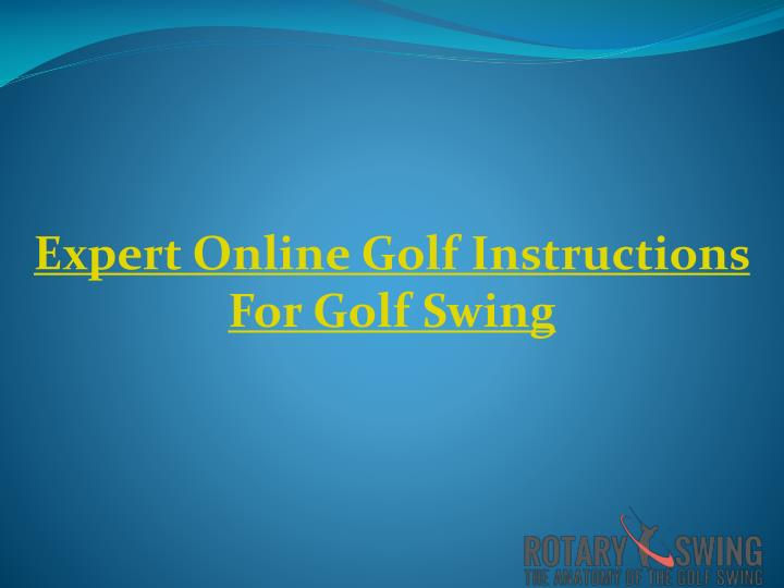 Expert Online Golf Instructions