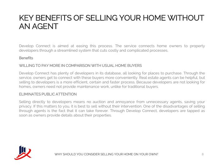 KEY BENEFITS OF SELLING YOUR Home Without An Agent