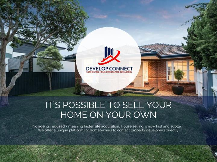 IT'S POSSIBLE TO SELL YOUR HOME ON YOUR OWN