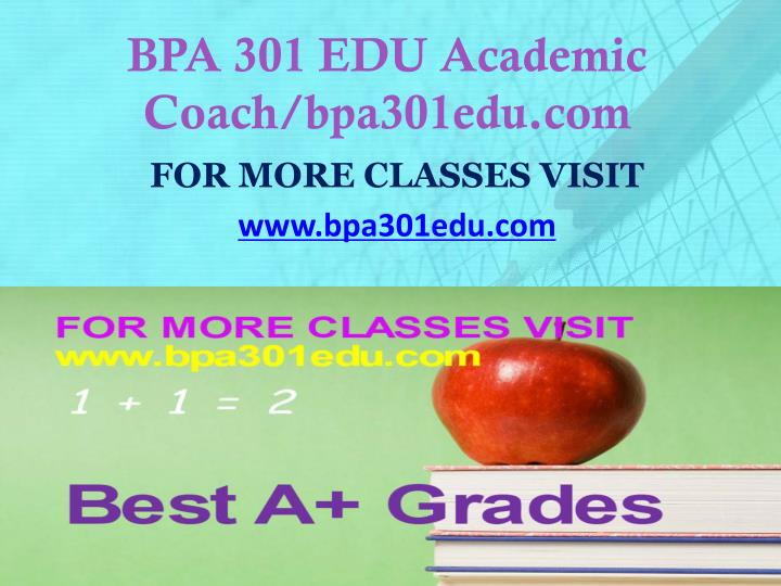 Bpa 301 edu academic coach bpa301edu com