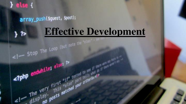 Effective Development
